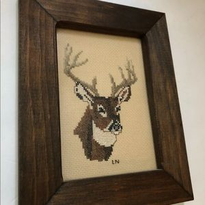 """Accents - Needlepoint wood framed glass size 7x9"""""""